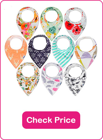 Ana Baby Bandana Drool Bibs - The 7 Best Baby Bibs To Keep Your Baby Clean (2019 Reviews)