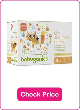 Babyganics Ultra Absorbent Diapers - The 9 Best Disposable Diapers (2020 Reviews)