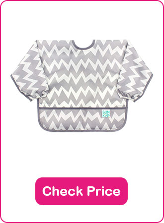 Bumkins Sleeved Toddler Bib - The 7 Best Baby Bibs To Keep Your Baby Clean (2020 Reviews)