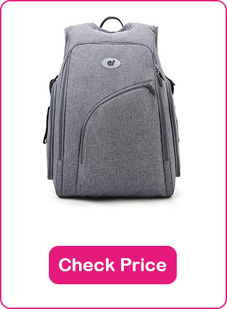 Ecosusi Fully Opened Diaper Backpack 1 - What are The Best Backpack Diaper Bags: Why & How to Pick