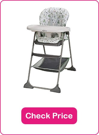 Graco Slim Snacker High Chair 2 - The 6 Best Folding High Chairs to Keep Your Baby Safe in 2020