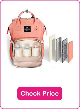 HaloVa Diaper Bag Backpack 1 - What are The Best Backpack Diaper Bags: Why & How to Pick