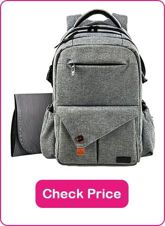 HapTim Multi Function Backpack Diaper Bag 1 - What are The Best Backpack Diaper Bags: Why & How to Pick
