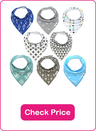 Matimati Baby Bandana Bib Set - The 7 Best Baby Bibs To Keep Your Baby Clean (2019 Reviews)