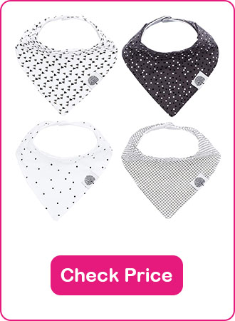 Parker Baby Bandana Bibs - The 7 Best Baby Bibs To Keep Your Baby Clean (2020 Reviews)