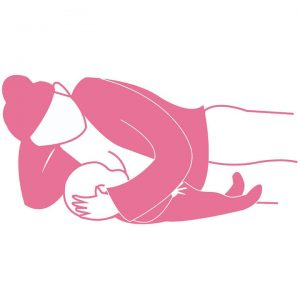 Side lying 300x300 - Breastfeeding Positions for a Successful Start